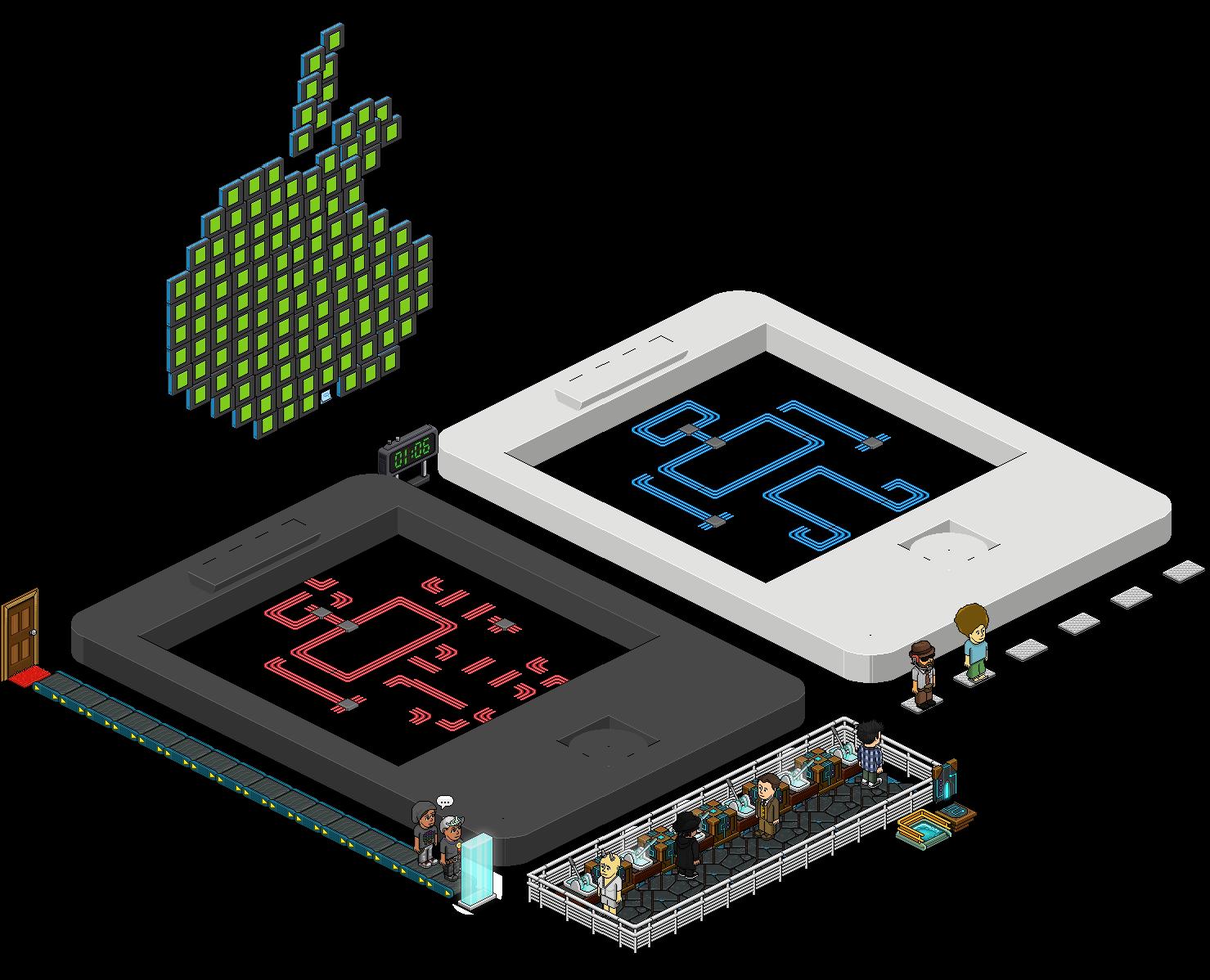 Dalle bleue - Jeu 3: Malware - Puzzle