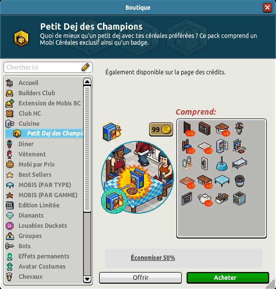 Catalogue Petit Dej des Champions