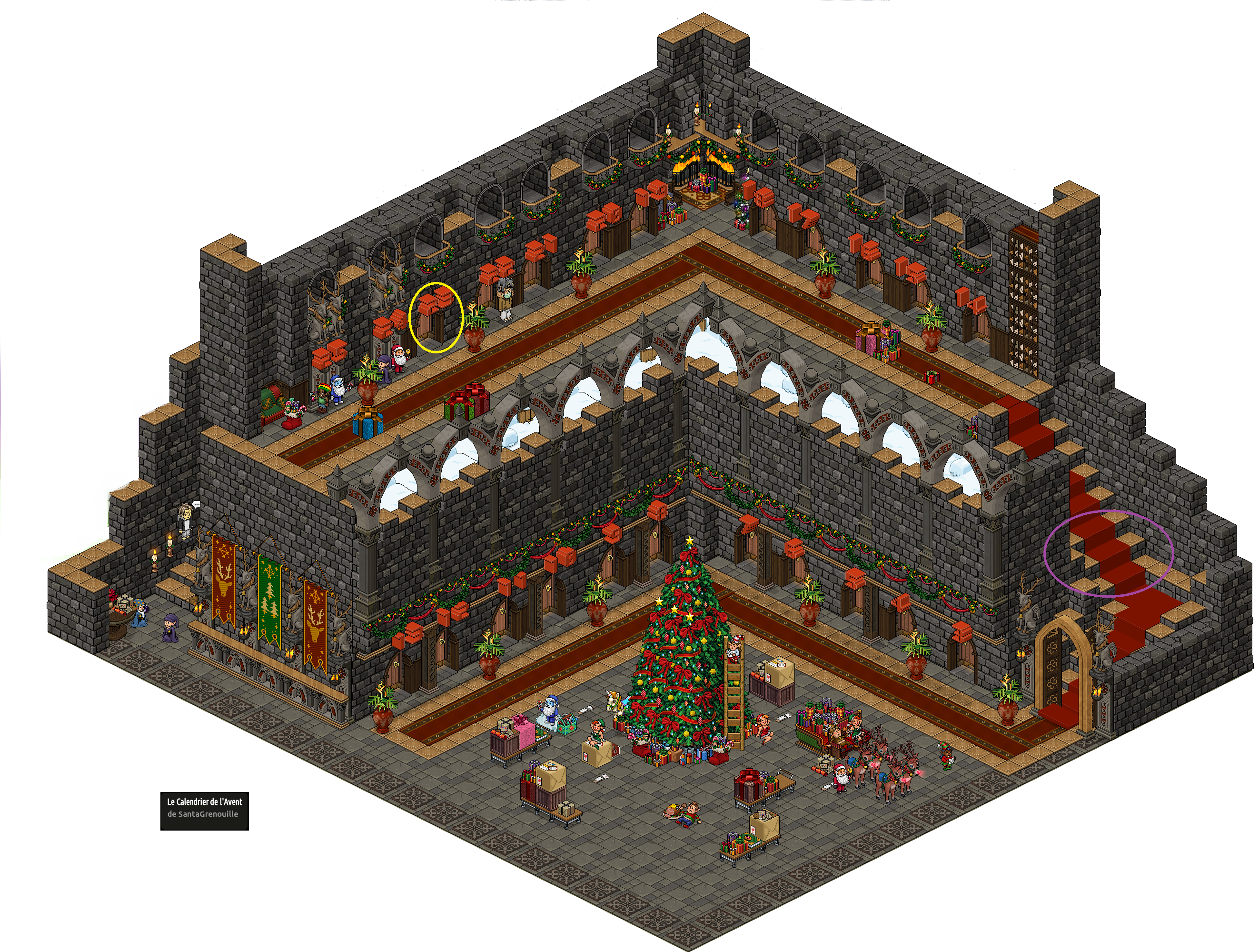 Château Magique du Calendrier de l'Avent Noël 2016 - Jour 23