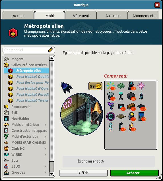 Pack Métropole Alien