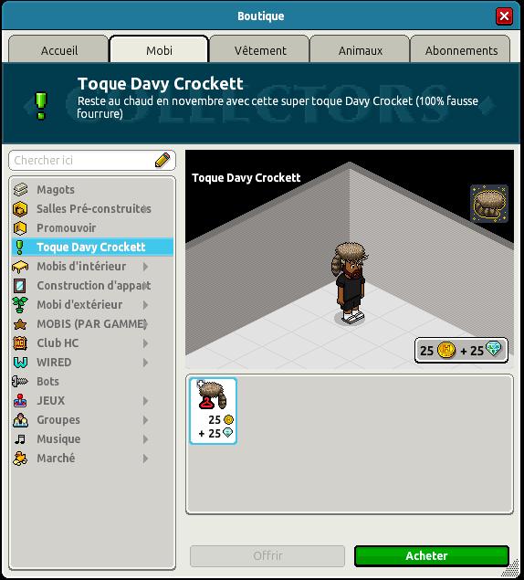 Toque Davy Crockett