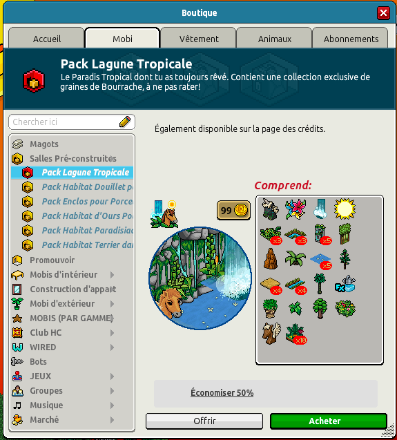 Pack Lagune Tropicale