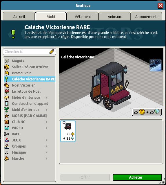 Calèche Victorienne