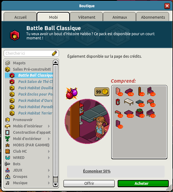 Catalogue Battle Ball Classique
