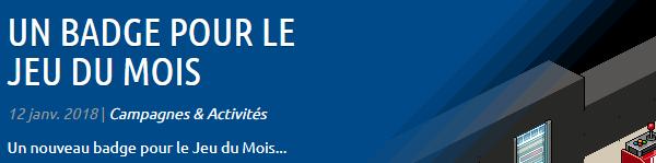 WebPromo : Un nouveau badge pour le JDM