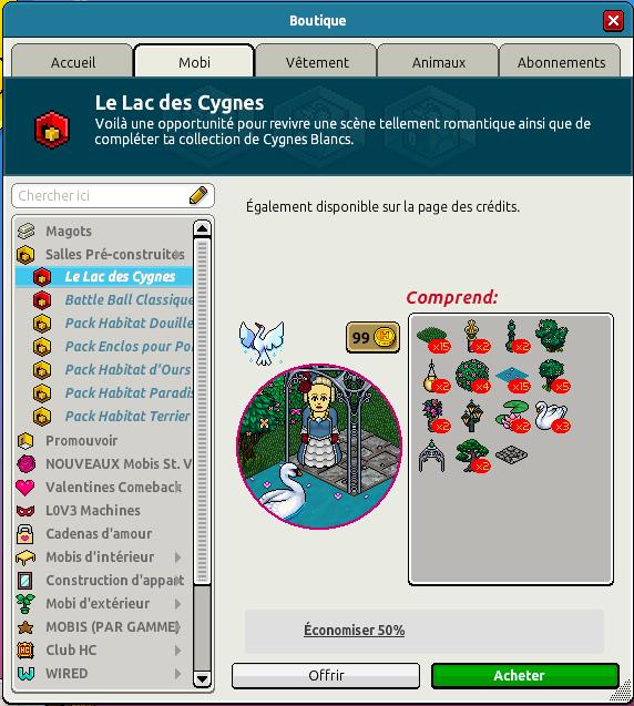 Catalogue Lac des Cygnes