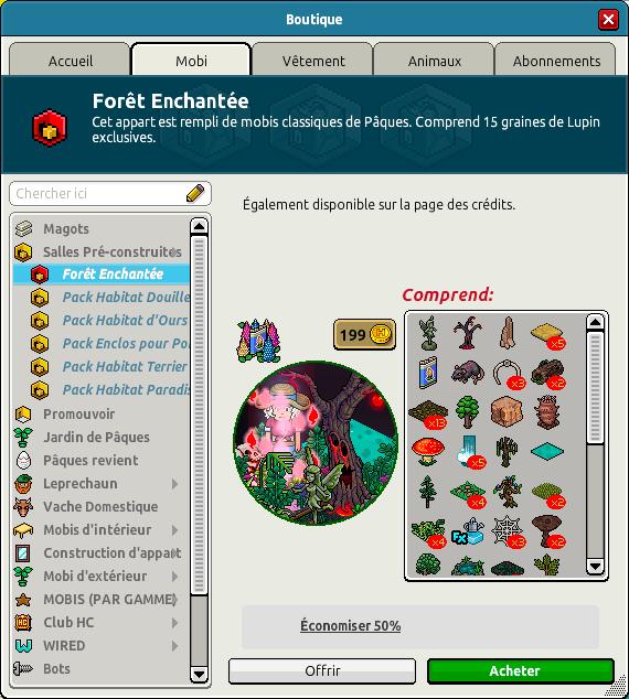 Catalogue Forêt enchantée
