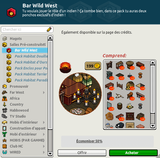 Catalogue - Bar Wild West