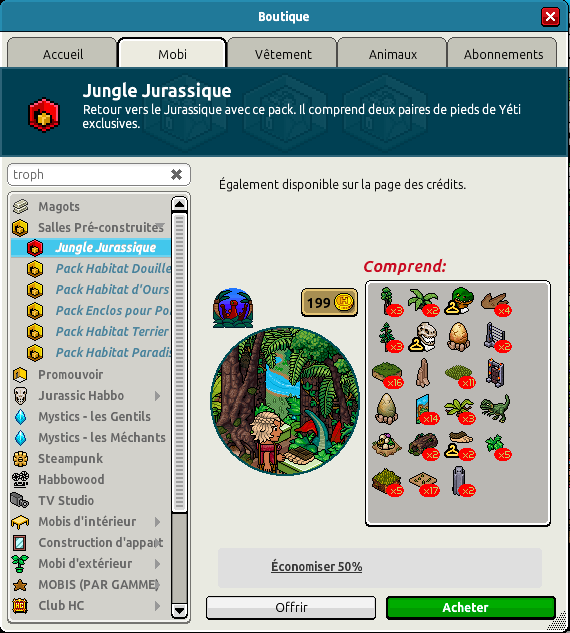 Catalogue Jungle Jurassique
