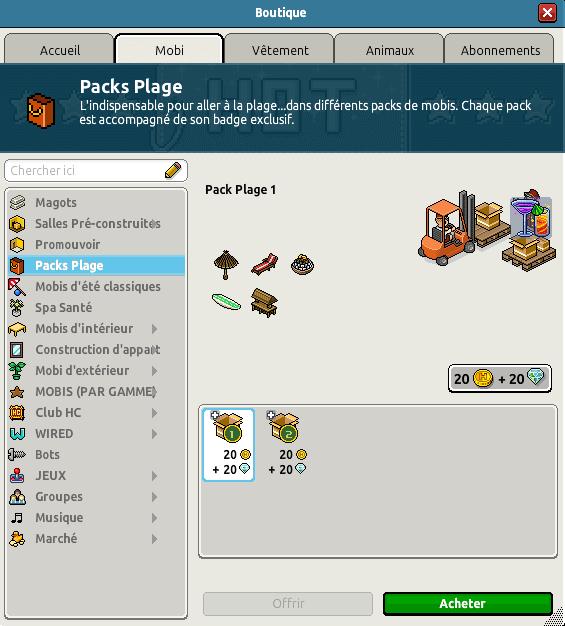 Pack Plage 1
