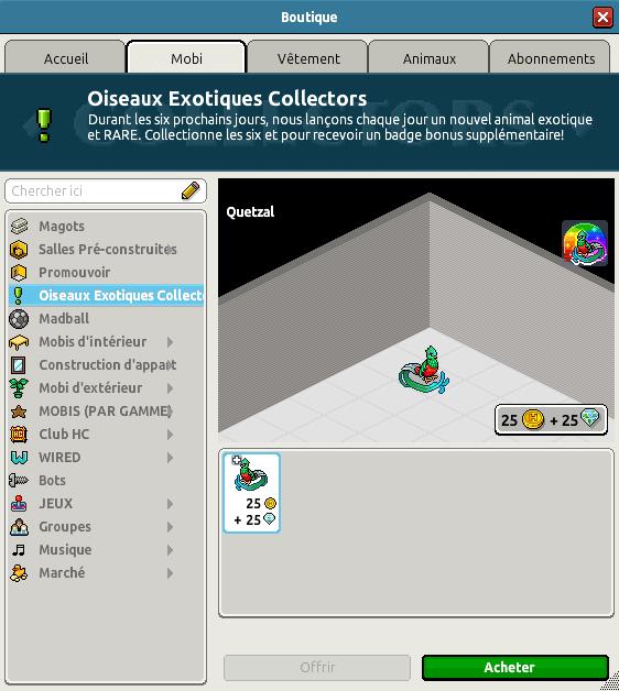 Collector Quetzal