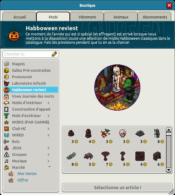 Anciens mobis Habboween