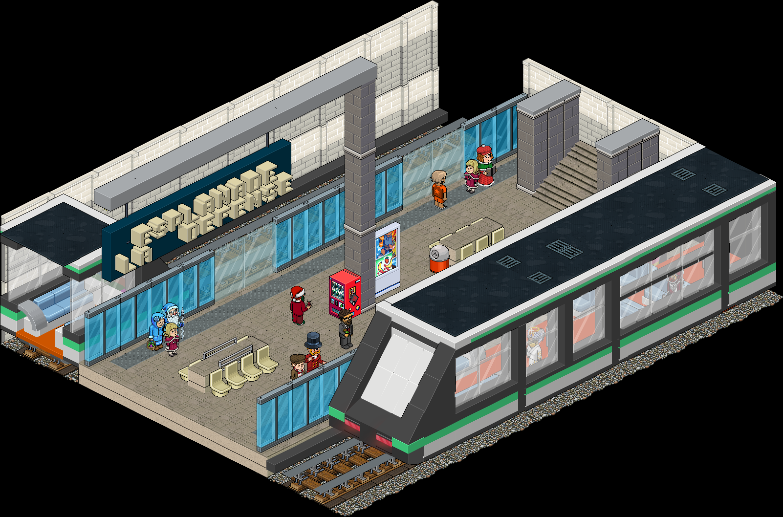 Métro - Station Esplanade de la Défense