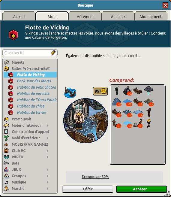 Catalogue Flotte de Viking