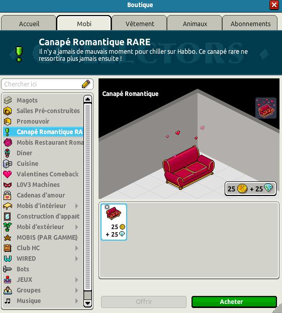 Rare Canapé Romantique