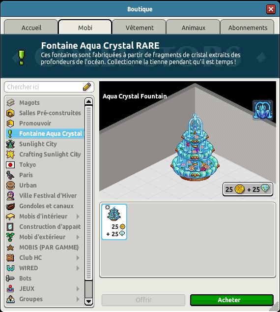 Rare Fontaine Aqua Crystal