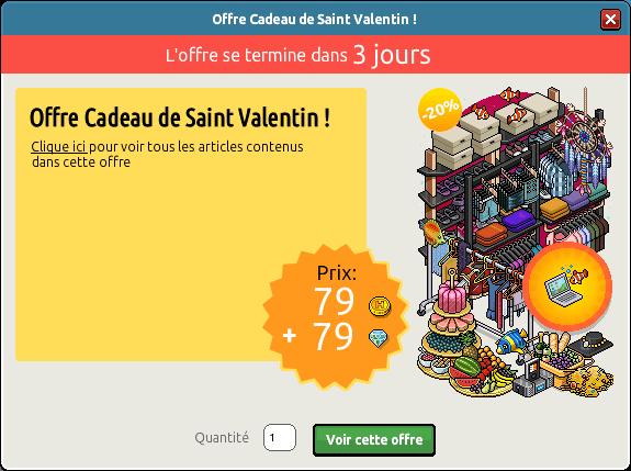 Offre Cadeau de Saint-Valentin