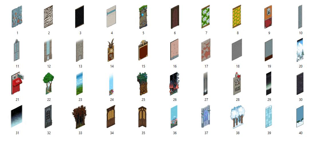Liste des 40 murs