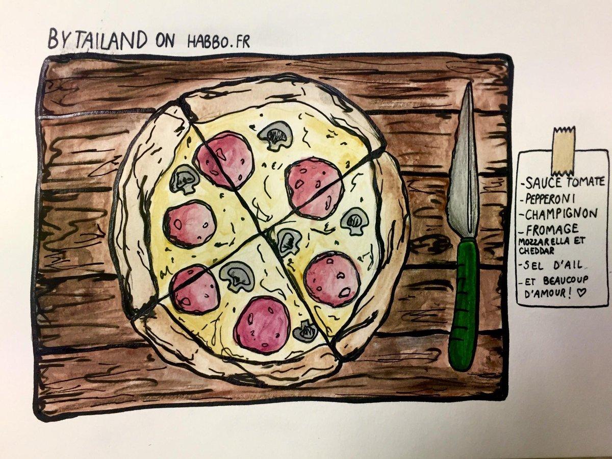 Pizza et recette de Tailand