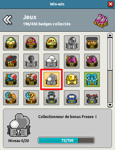 Win-win Collectionneur de bonus Freeze