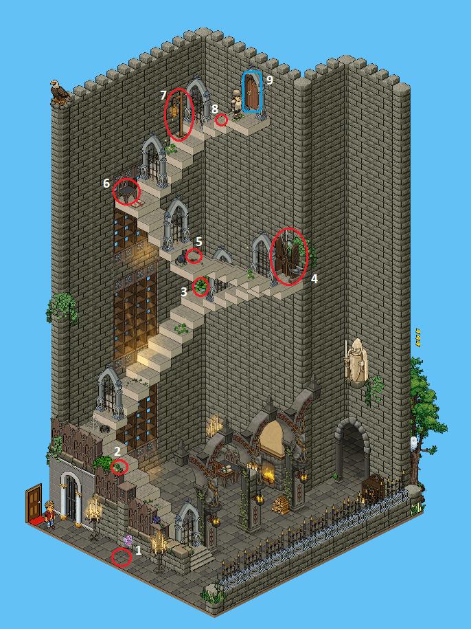 Zelba - Escalier de la Tour
