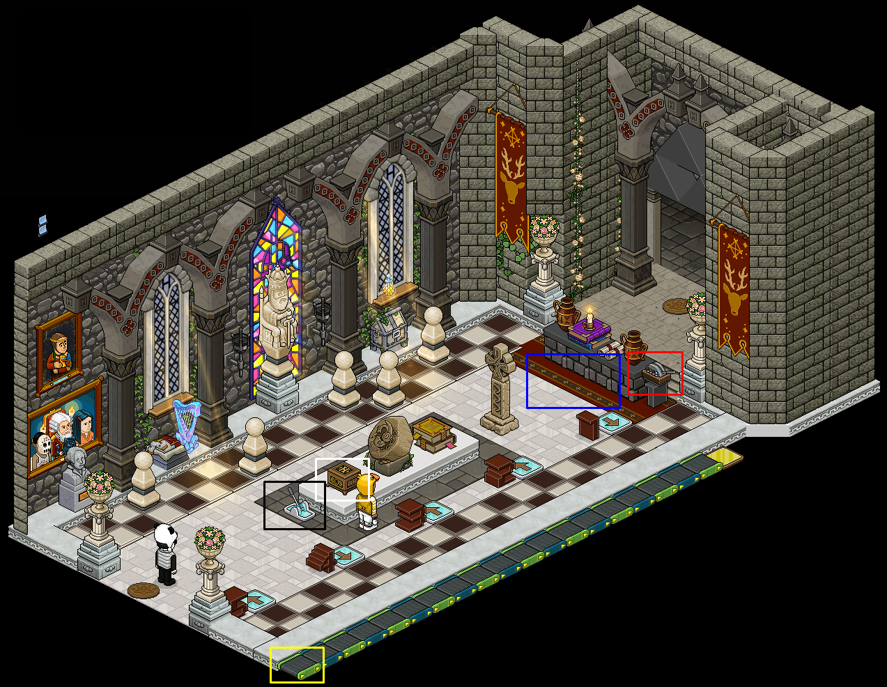 Zelba - Temple du Temps - Entrée intérieure
