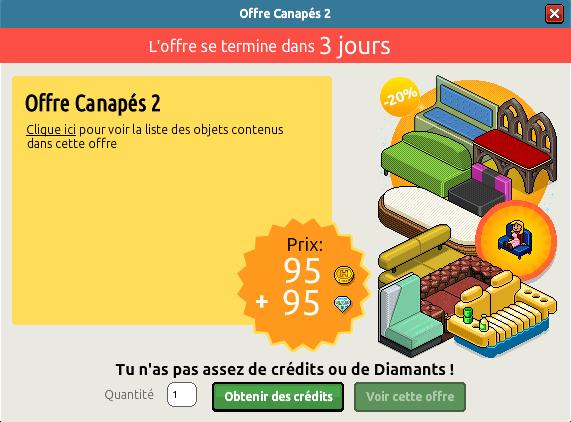 Offre Canapés 2