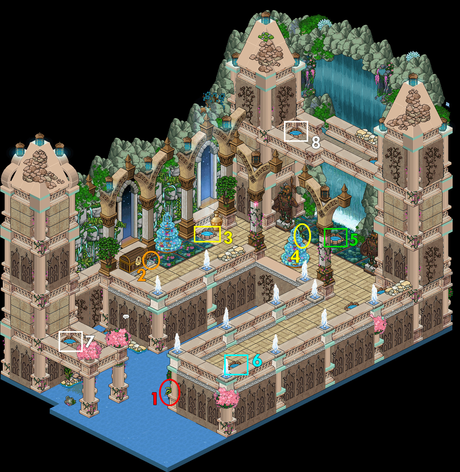 Zelba - Temple de l'eau - Hall