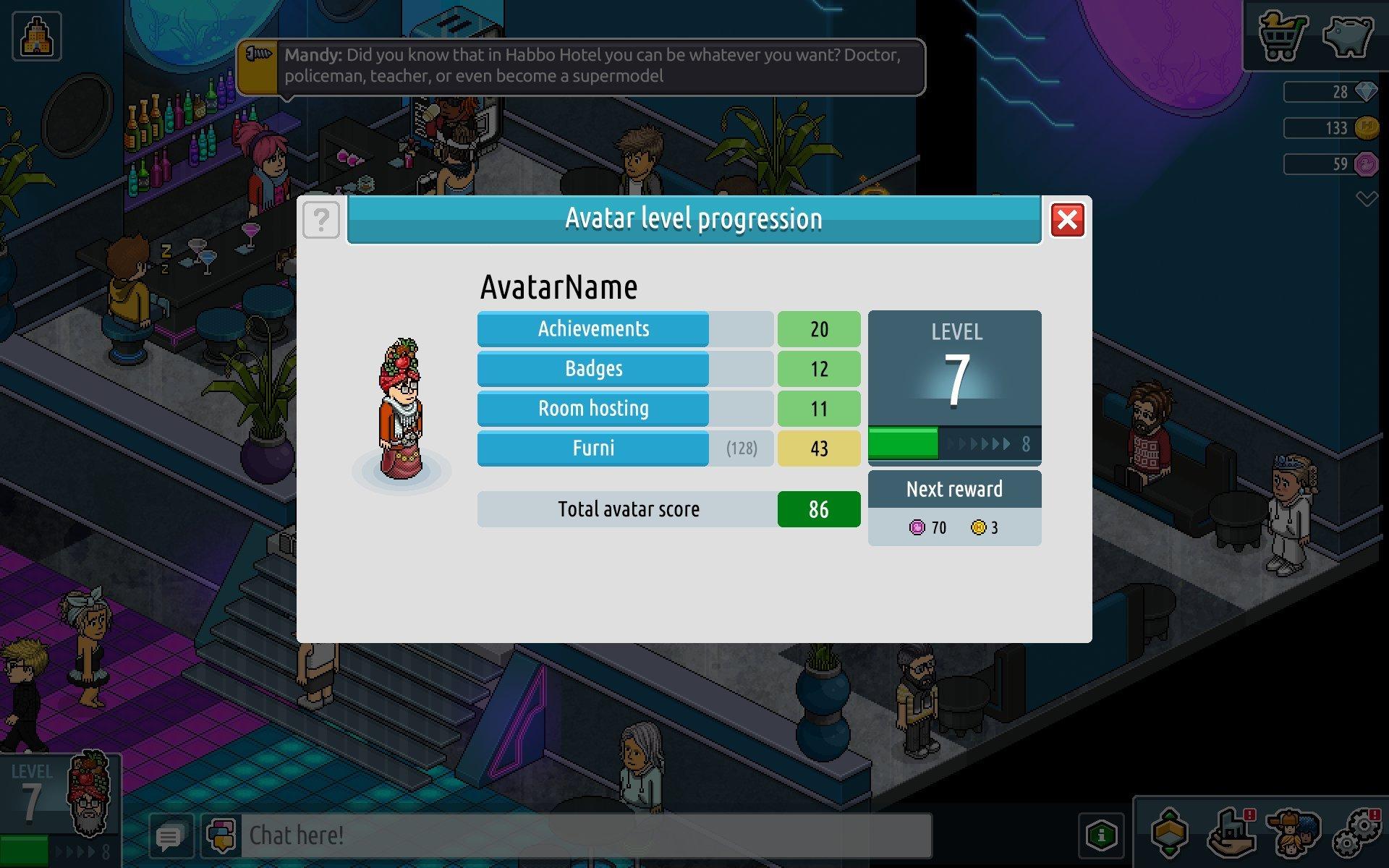 Nouveau système de niveaux