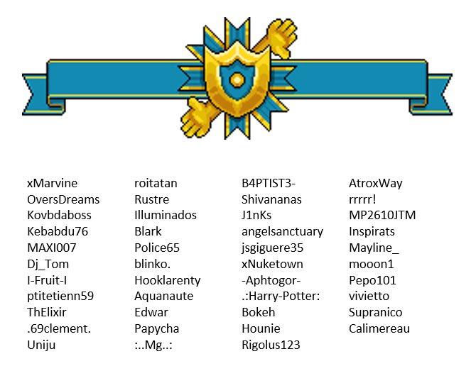 Liste des 43 habbos pré-sélectionnés