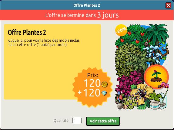 Offre Plantes n°2