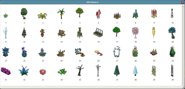 Liste des 40 plantes