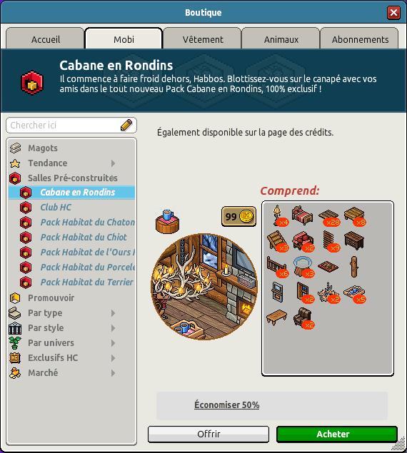 CatalogueCabane en Rondins