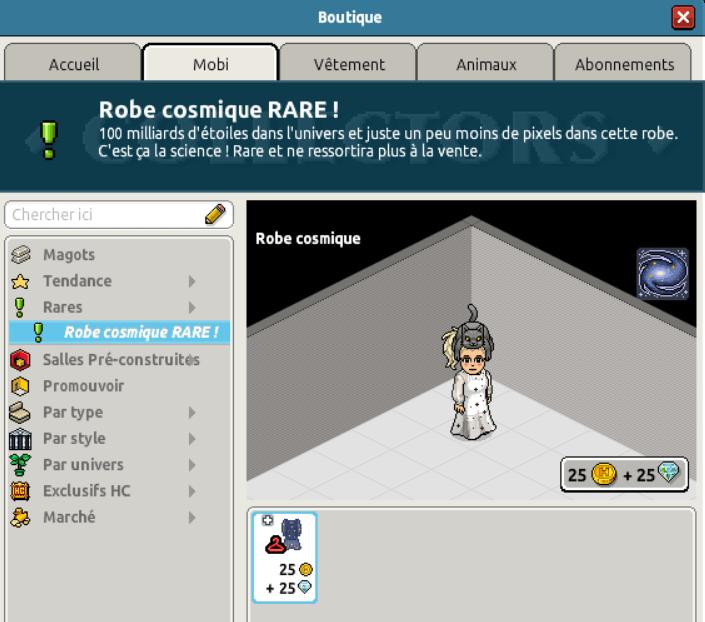 Rare Robe Cosmique