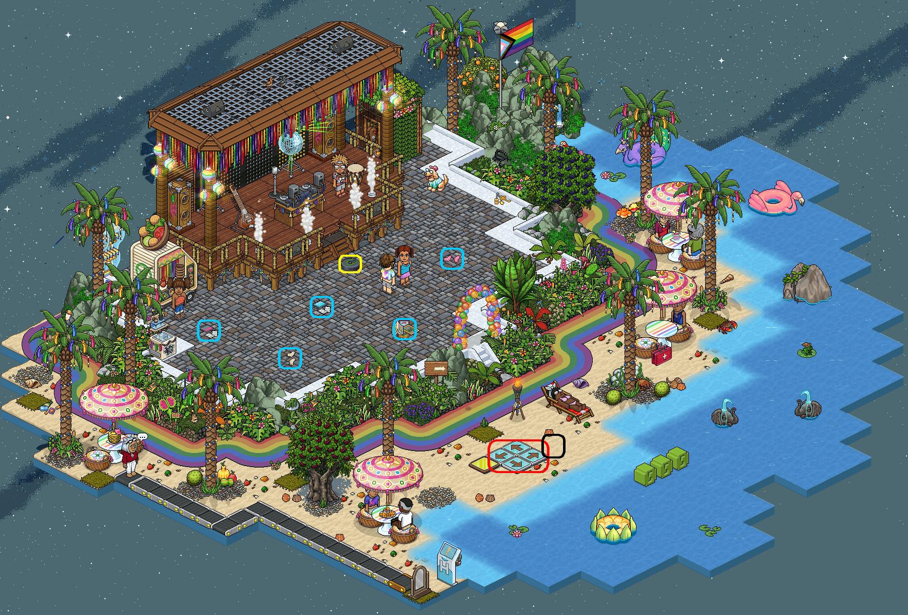 Festival des Fiertés Habbo - Beach Party