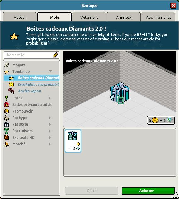 Boîte cadeau diamant 2.0